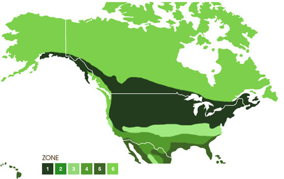 Jacklin Seed Map, USA and Canada